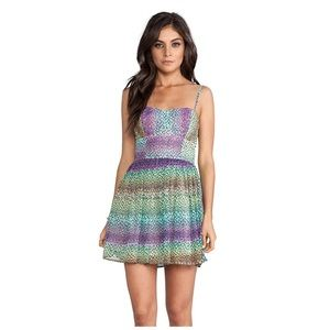 Jack by Bb Dakota rainbow Keelia dress
